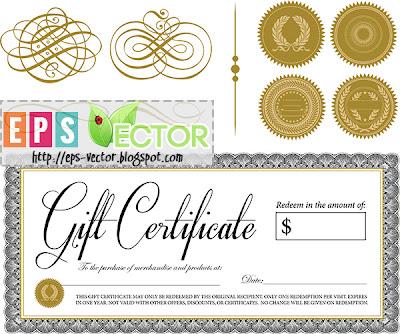 [Vector] - Ornate Vintage Certificate
