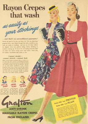 anti-shrink fabric ad from 1940