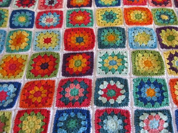 Como Hacer Cuadros De Crochet Para Mantas.Las Tardes De Ana Crochet Manta A Cuadros