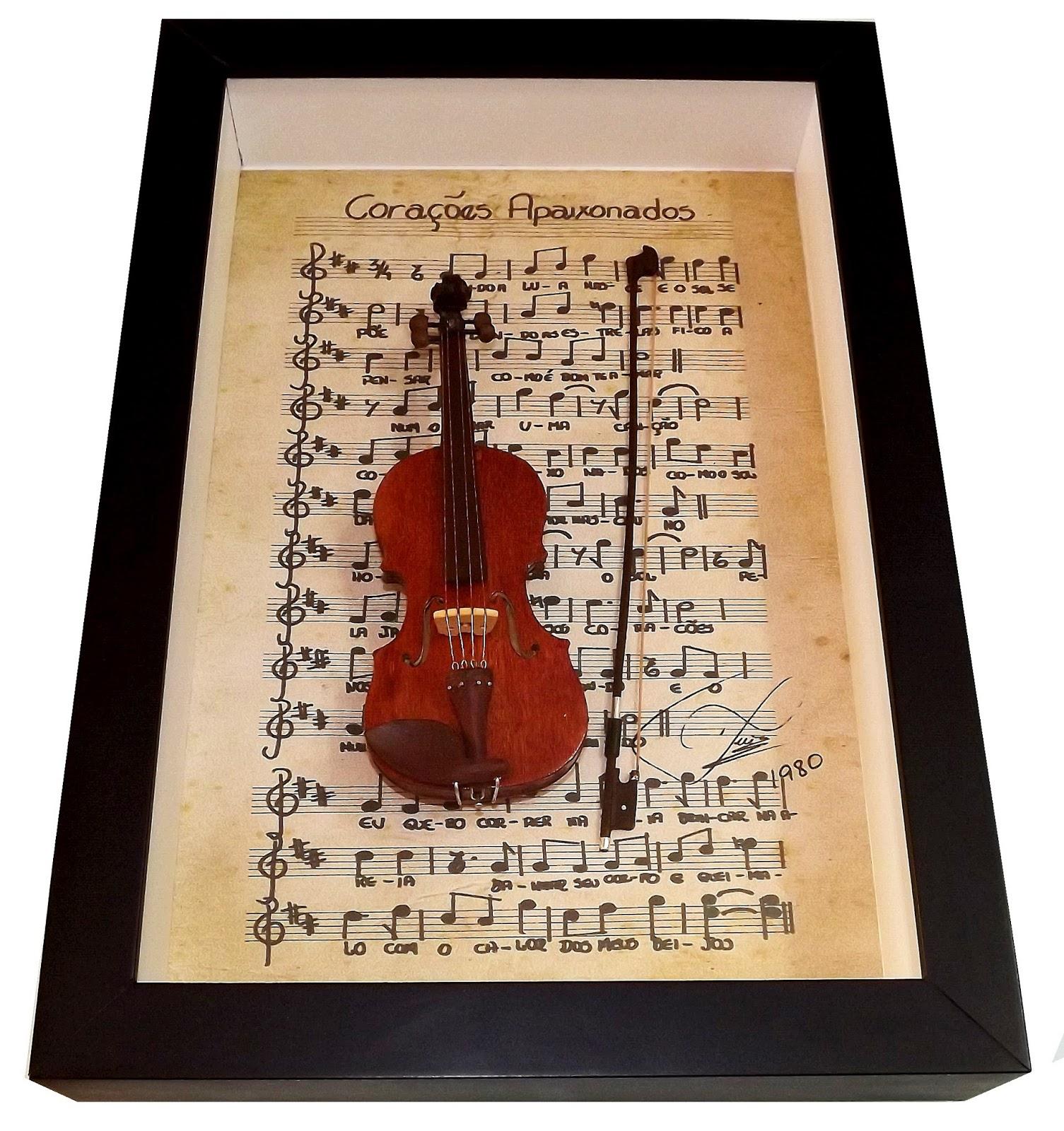 miniatura de violino