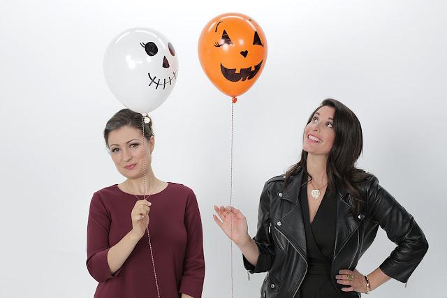 Decoração de Halloween com balões