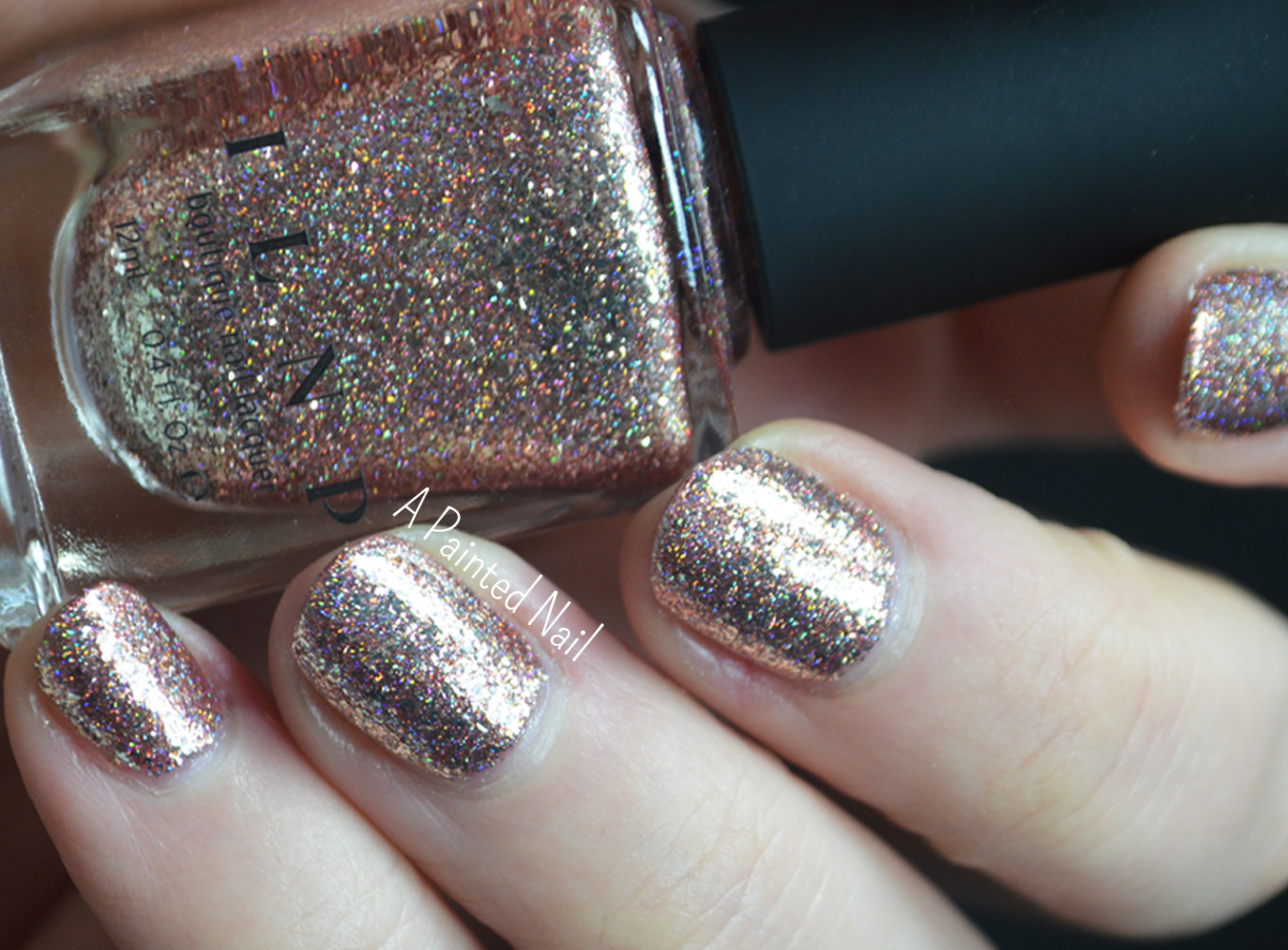 Ilnp Juliette Holographic Nail Polish Rose Gold Ilnp Cosmetics Inc