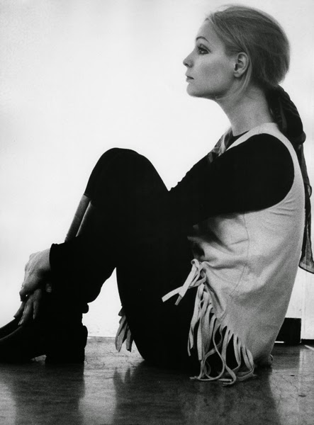 patty pravo in a fringe vest