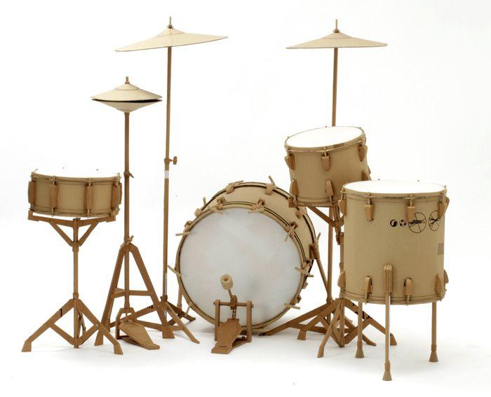 Как сделать барабан из бумаги и картона