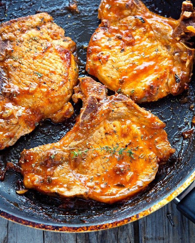 Honey Garlic Glazed Pork Chops