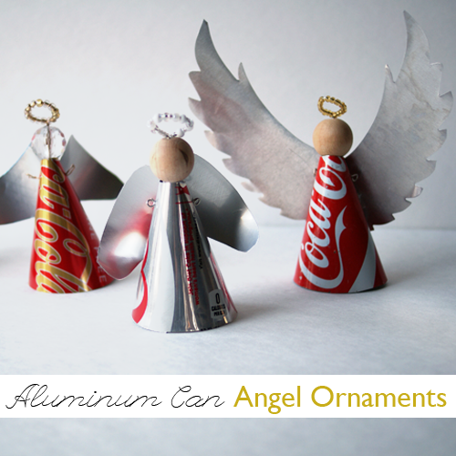 Christmas Ornament Angels From Office Supplies: How To Recycle: Soda Can Angel Ornament Tutorial