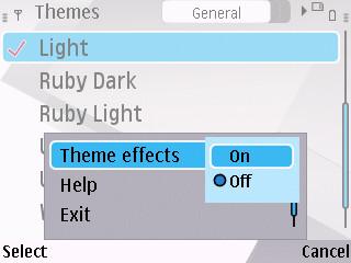 mengaktifkan Effect theme