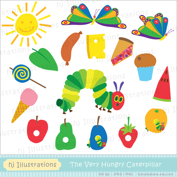 hj illustrations very hungry caterpillar digital clipart rh hjillustrations blogspot com Umbrella Clip Art Bug Clip Art