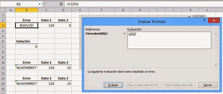 Comprobación de errores en Excel 2010