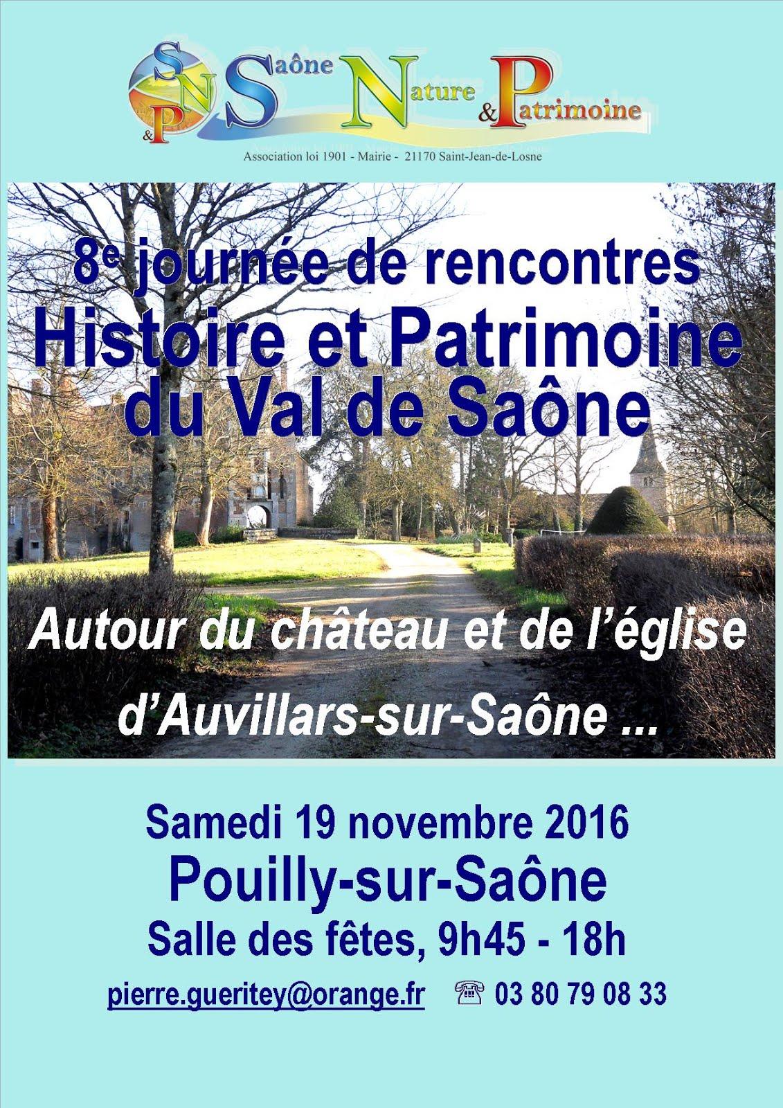 Notre 8e Journée Histoire et Patrimoine du Val de Saône