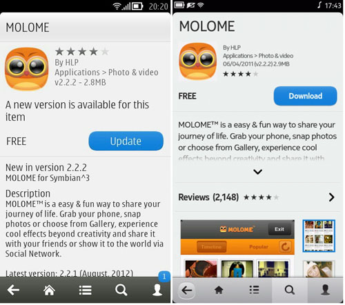 ELEX IDEA BLOG: Molome v2.2.2 for Symbian and MeeGo (Store Link)