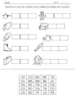 Atividades de Alfabetização - Hipótese de Escrita - Atividade para Imprimir 9