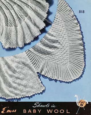 1940s Knitting - Fern Shawl
