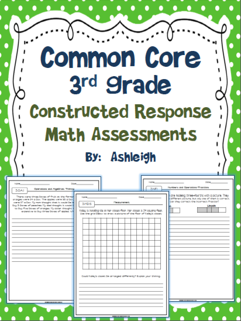 Common core constructed response math assessments ashleighs common core constructed response math assessments nvjuhfo Gallery