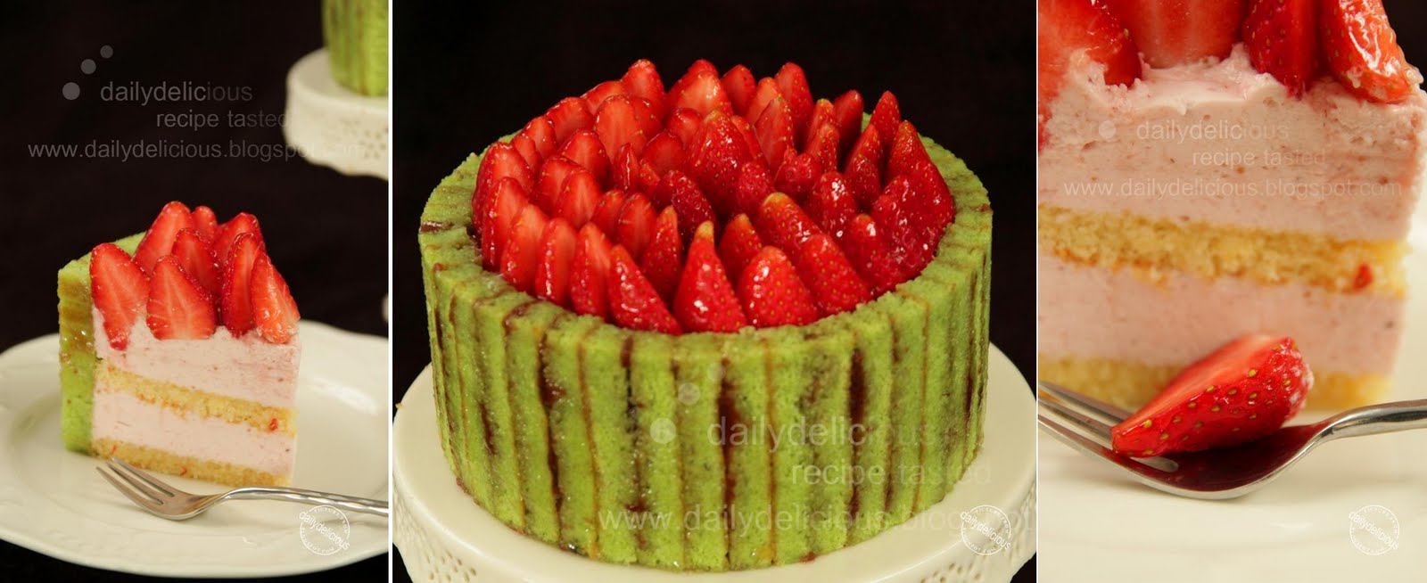 dailydelicious: Strawberry Pistachio Charlotte: My Cute ...