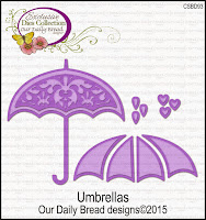 Our Daily Bread designs Custom Umbrellas Dies