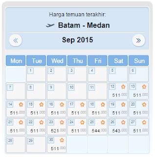 harga tiket pesawat batam medan september 2015