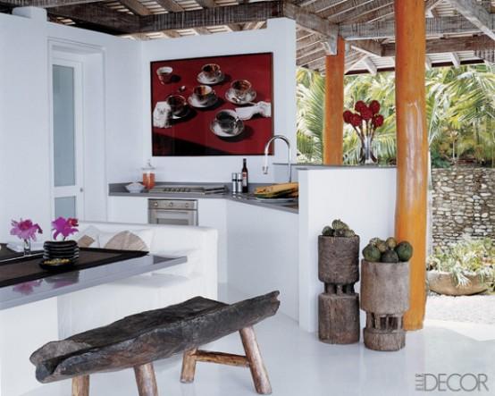 AMO DECOR com Na ilha da cozinha # Ilha Cozinha Em Alvenaria