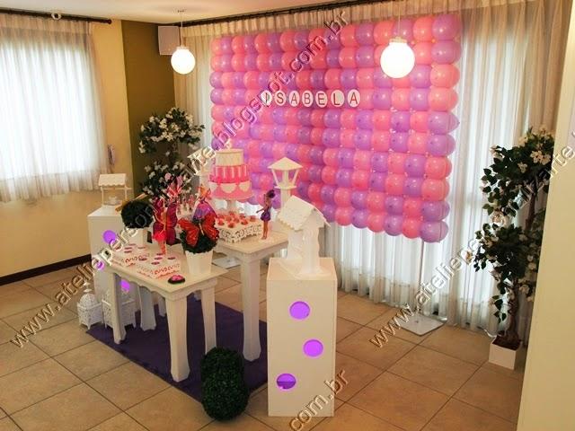 decoracao de festa infantil barbie butterfly provençal
