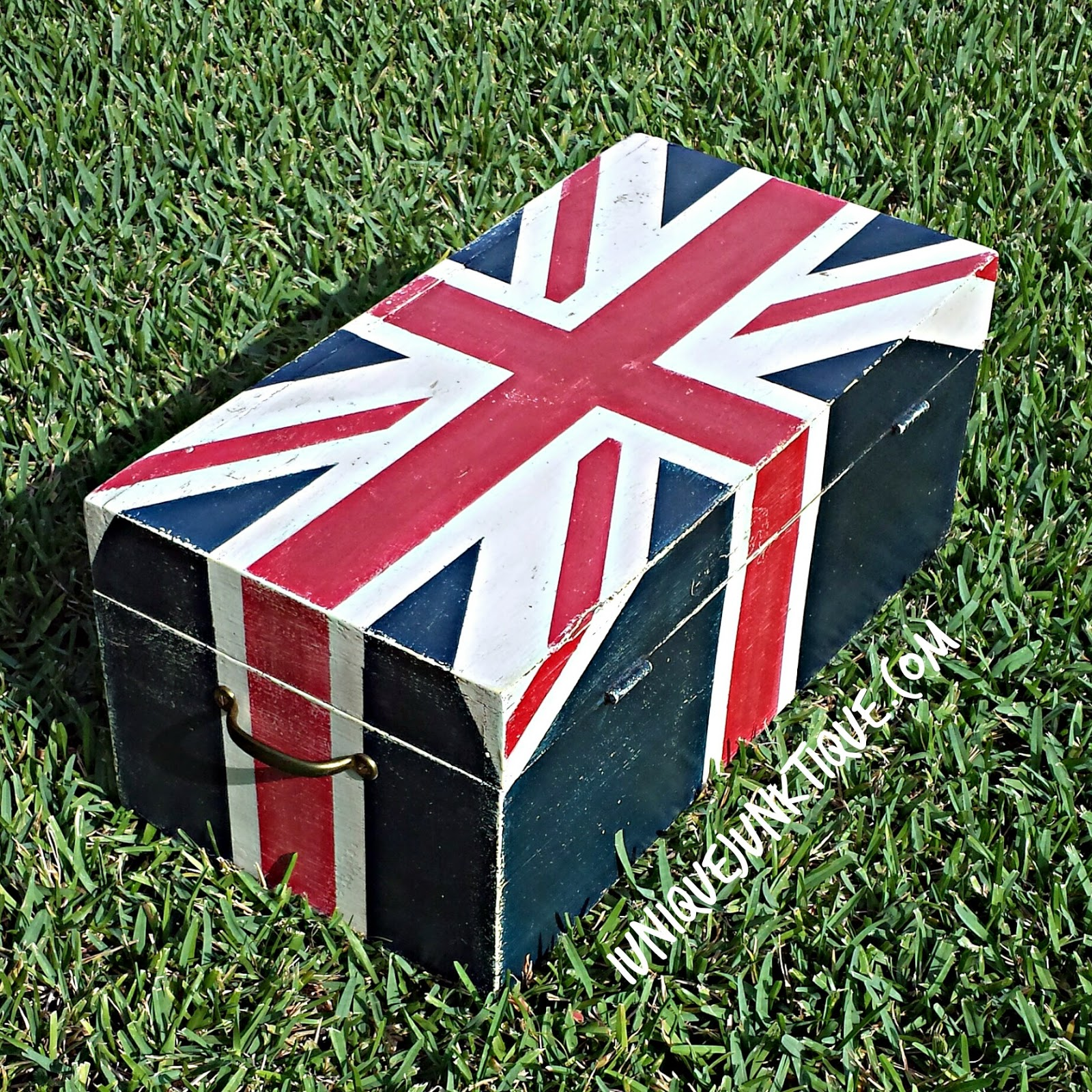 Union Jack  wrap around design technique part 1