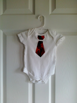 Baby Boy Tie Applique Onesie