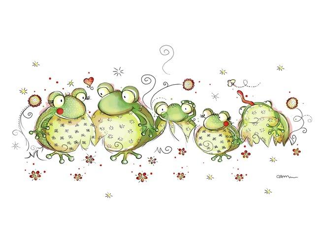 ranas ilustracion infantil imagenes bonitas de animales conejo con ...