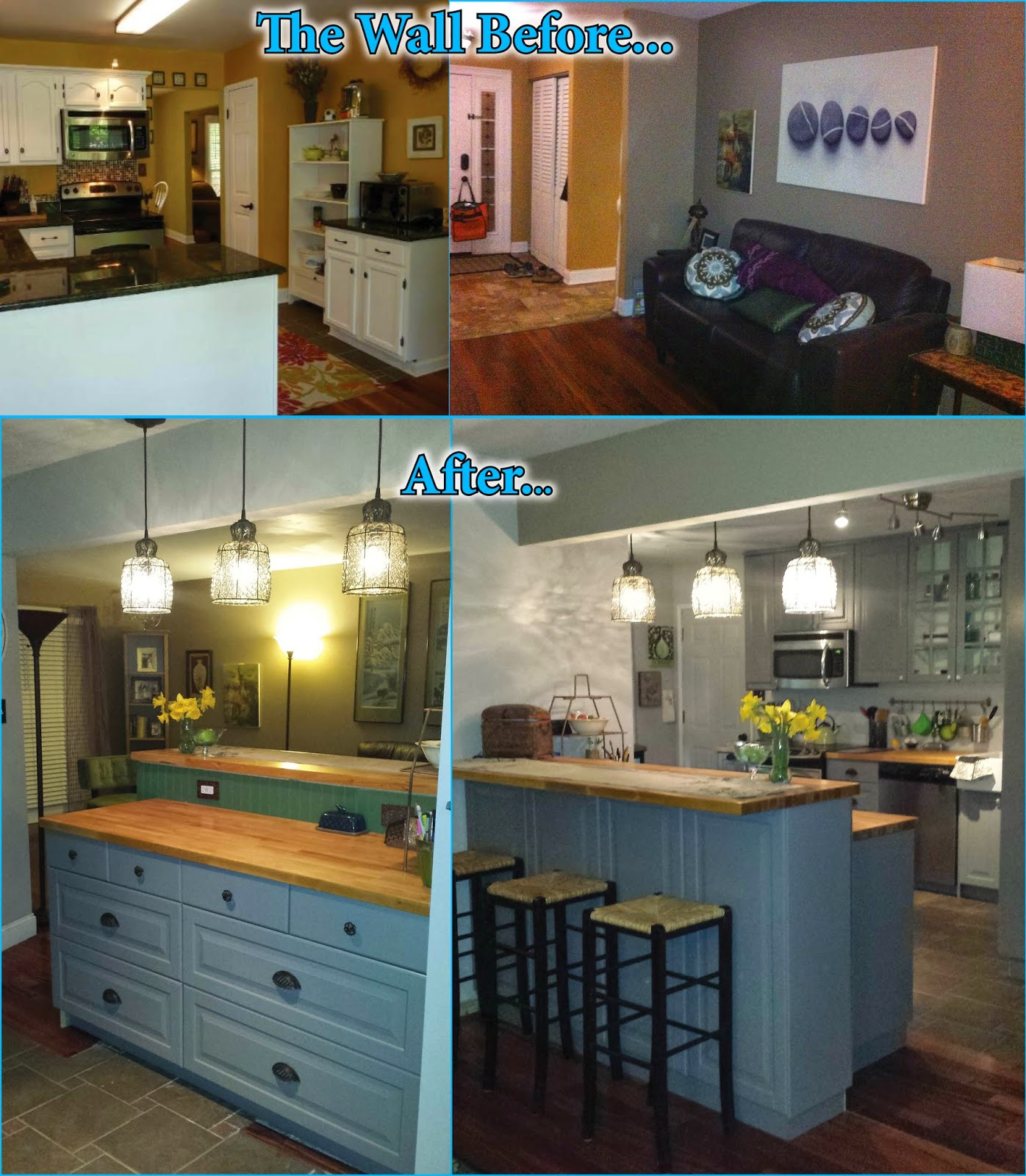 Kitchen Remodel Before And After Wall Removal Wildly Domesticated Kitchen Postwall The Open Look