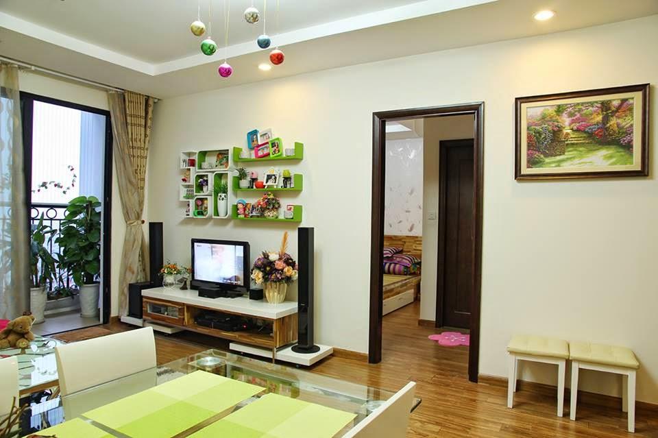 thiết kế phòng khách tại chung cư Thăng Long Number One