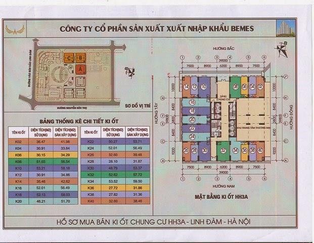 sơ đồ thiết kế kiot dự án hh3a linh đàm