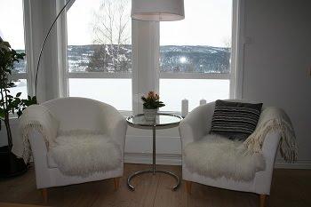 Stue - Fra burgunderrød til lys