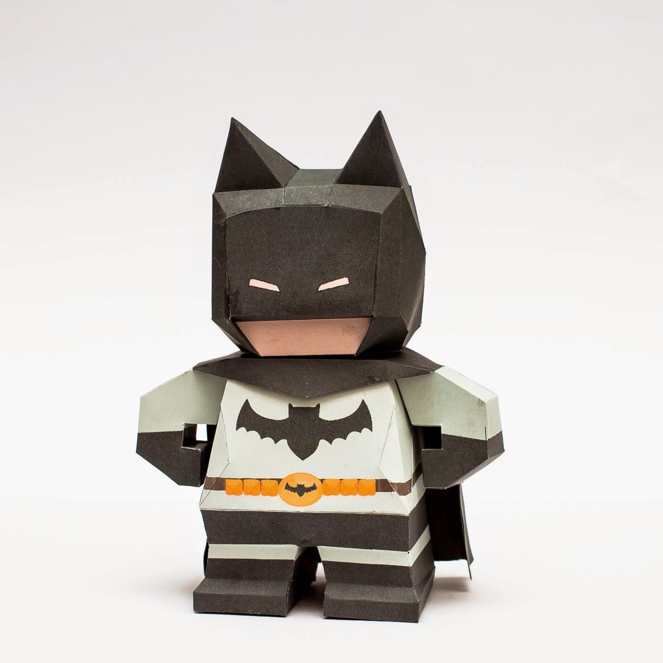Chibi Batman Papercraft Model Mini
