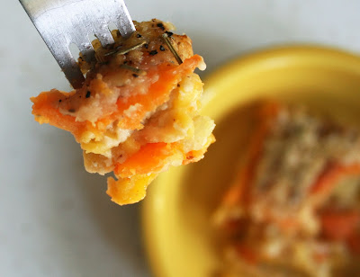Sweet Potato & Mac Gratin