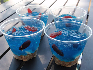kids, party food, swedish fish, blue