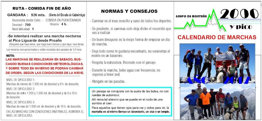 CALENDARIO DE MARCHAS 2014
