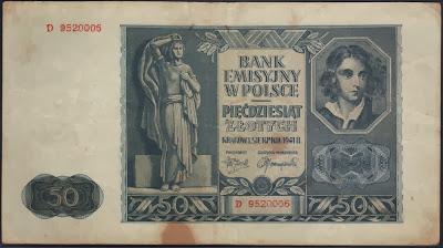 Polonia 50 Zlotych 1941 P# 102