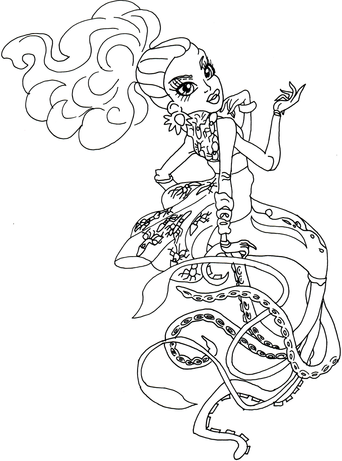Free Printable Monster High Coloring Pages Kala Merri Monster