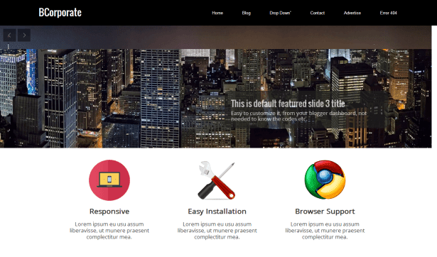 BCorporate - Responsive Blogger Template