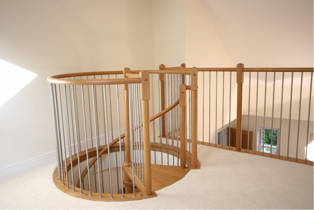 How to build a wooden spiral staircase my staircase gallery for Spiral staircase blueprints