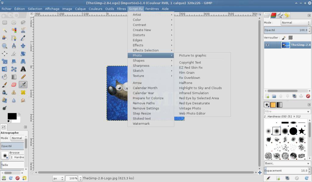 Scripts pour Gimp des versions [Gimp 2.6 - Python 2.5] à [Gimp 2.8 - Python 2.7]