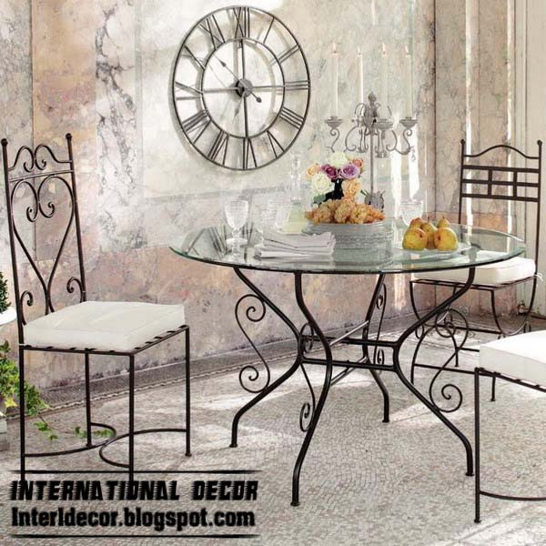 wrought iron forged furniture designs for different rooms