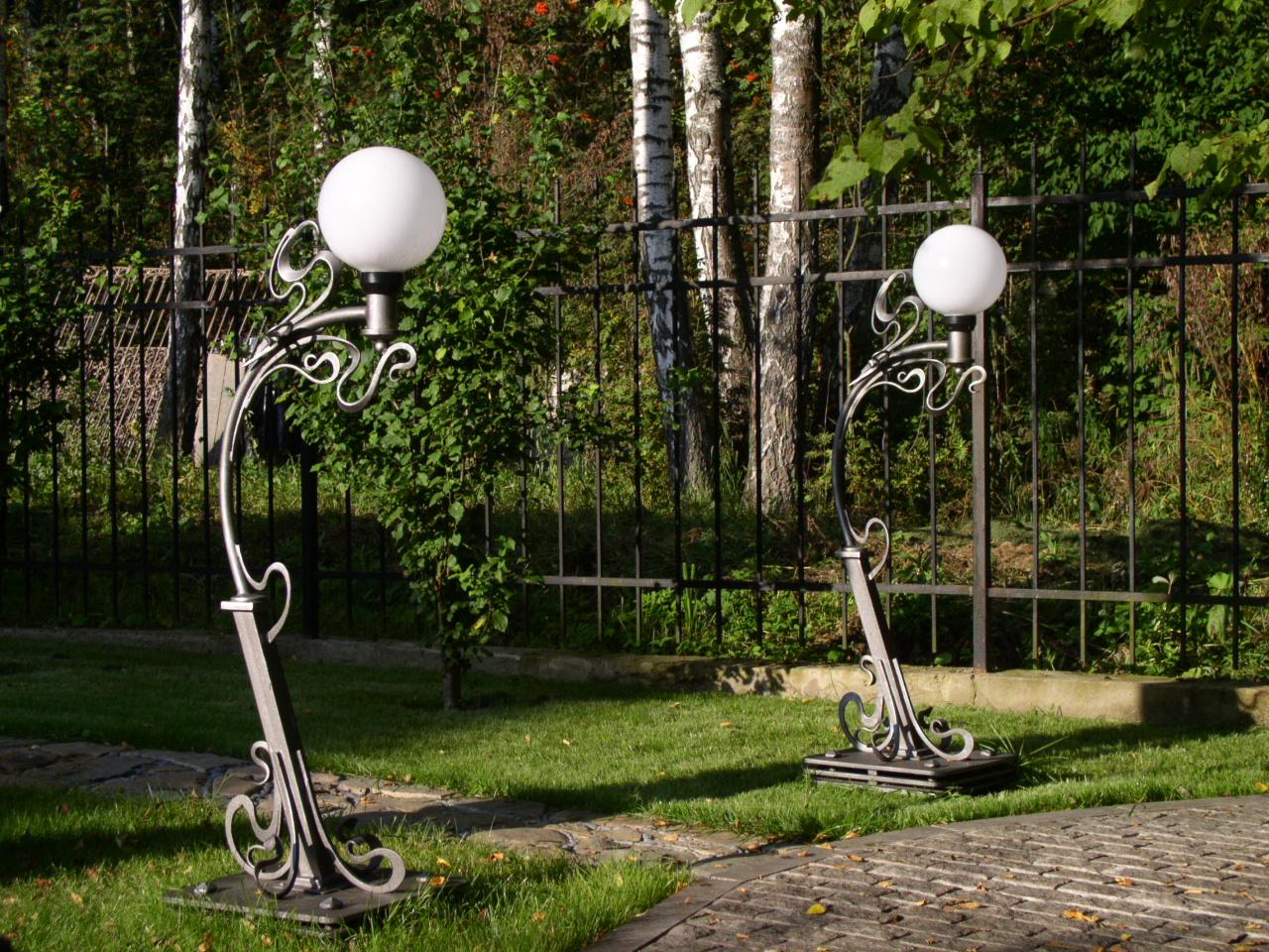Кованые фонарные столбы своими руками 52