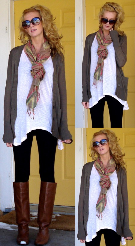 The Bargain Blonde Leggings boots and sweaters ... oh my!