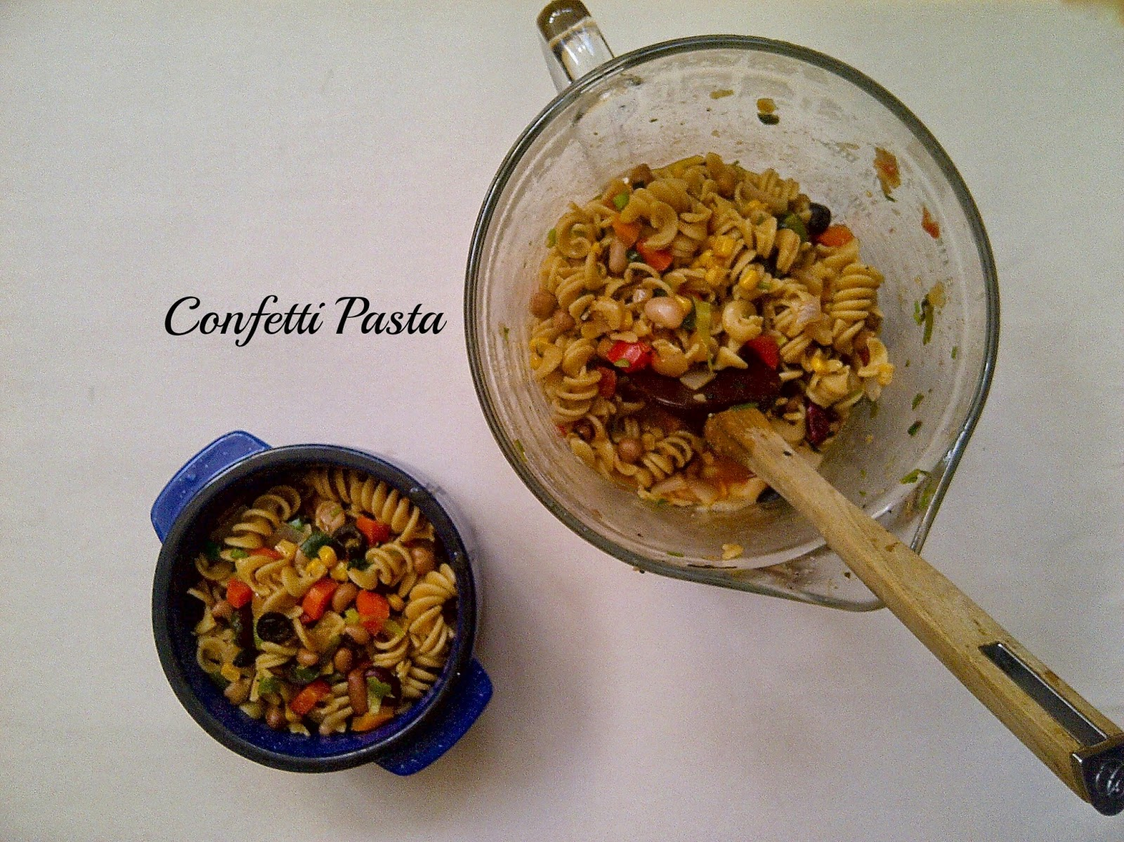 Confetti Pasta & Beans - www.soliloquyoffood.com
