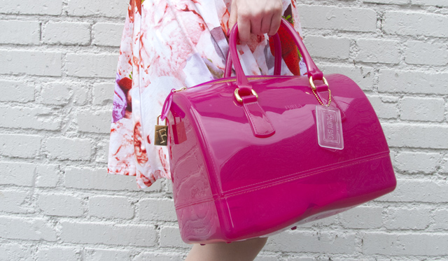 furla, candybag, pink, jelly
