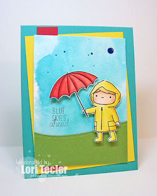 Blue Skies Ahead card-designed by Lori Tecler/Inking Aloud-stamps and dies from Mama Elephant
