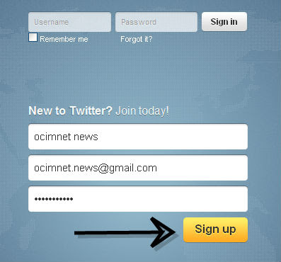 Twitter Login Sign Up