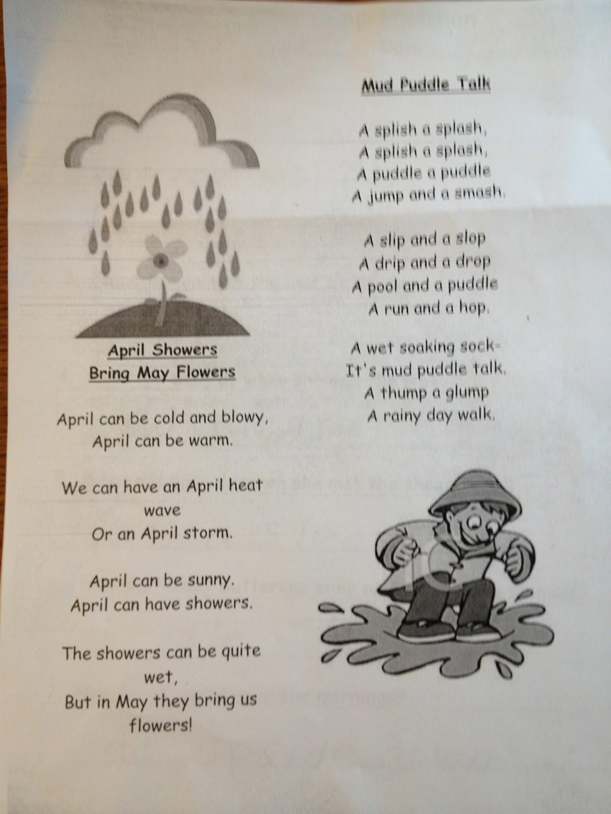 Autism Tank: April Showers