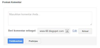 kolom komentar blogger