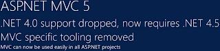 ASP.NET MVC 5 必須使用 .NET Framework 4.5