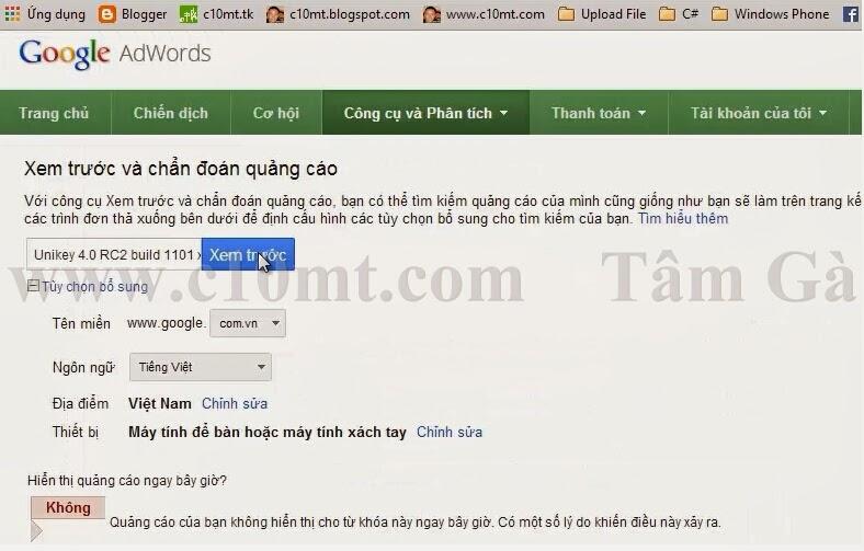 google-adwords-xem-truoc-va-chan-doan-quang-cao